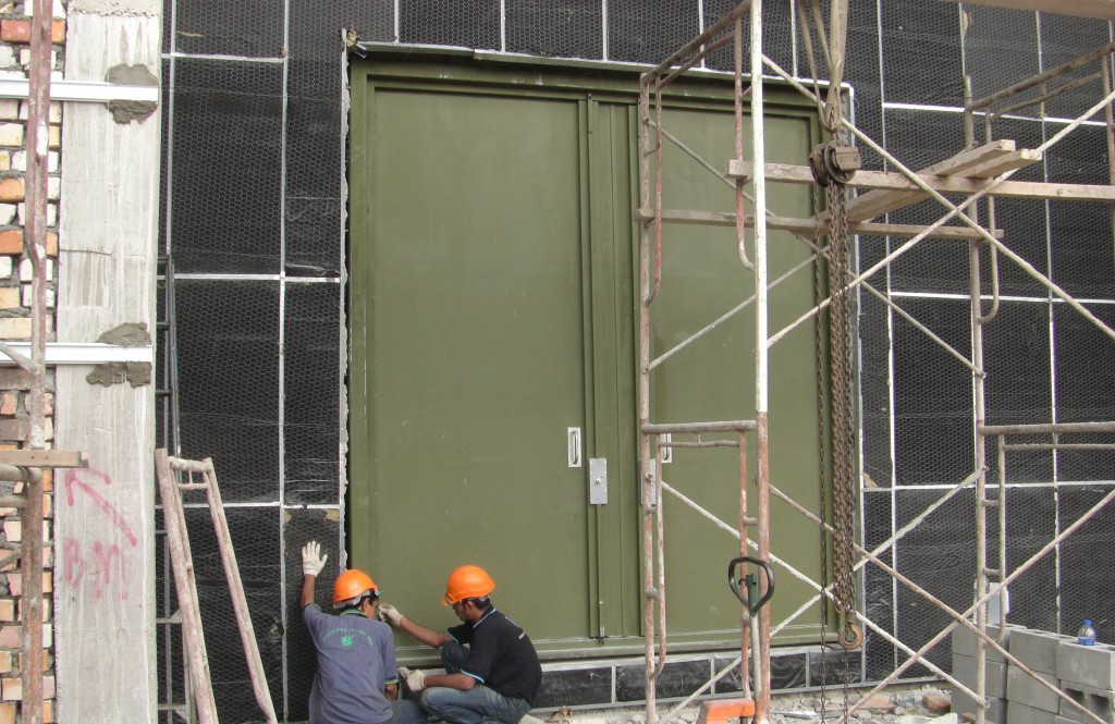 Installation of Double Leaf Acoustic Door